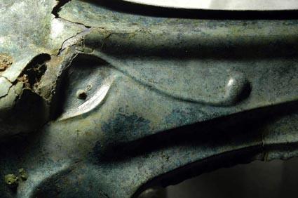 Carnyx de Tintignac, détail. Cliché B. Armbruster