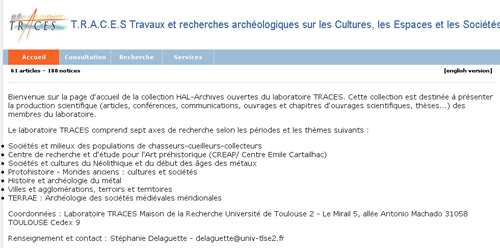 Collection HAL-TRACES